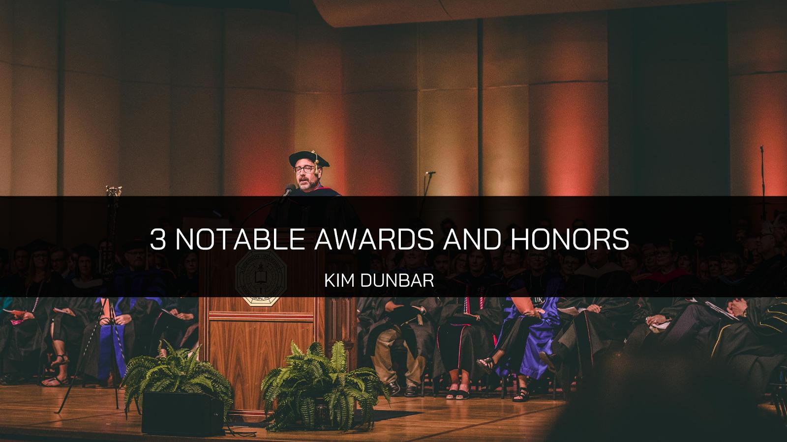 Kim Dunbar Awards