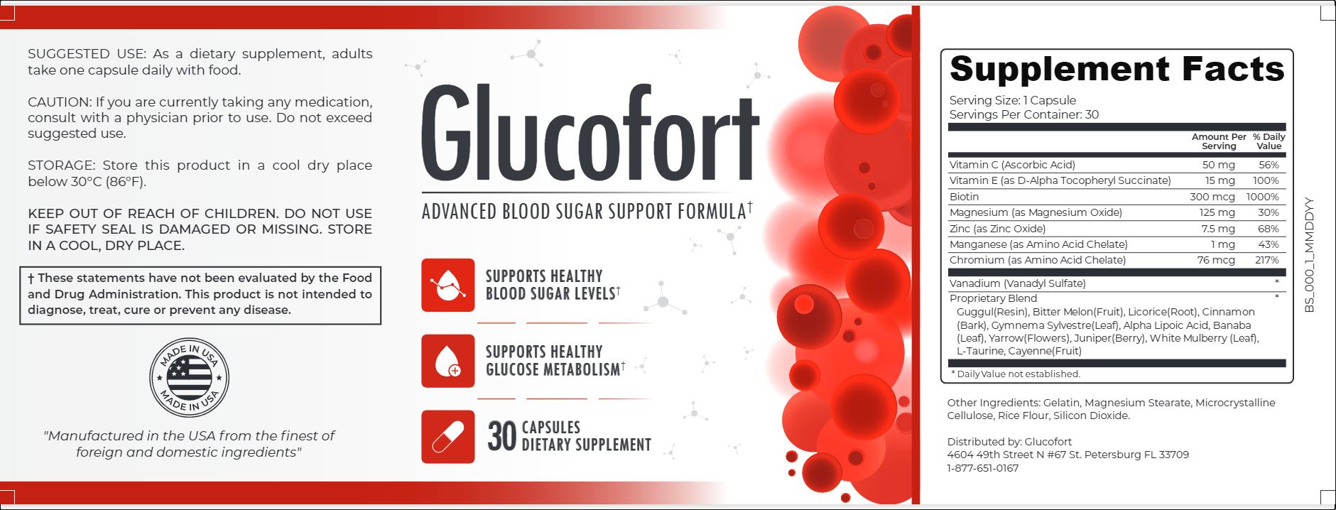 glucofort_label