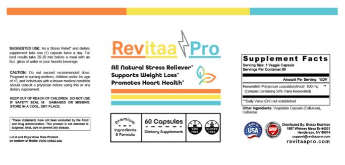revitaa-pro-ingredients-label