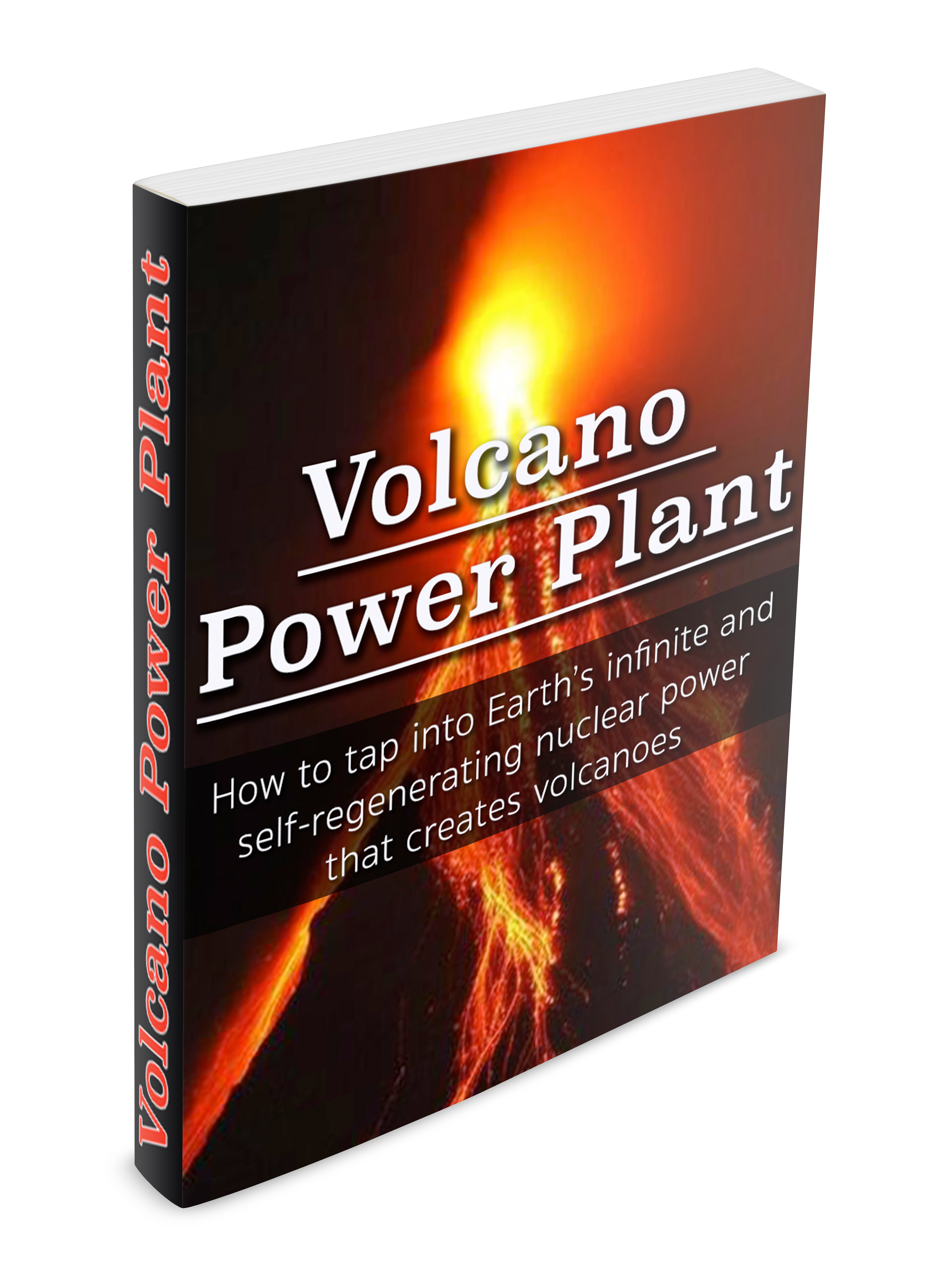 volcano power plant cover 3D