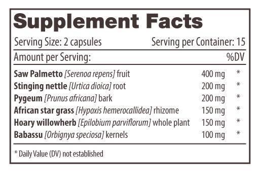 Prostamend-Supplement-facts