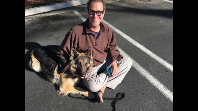 William Lakoff and his dog